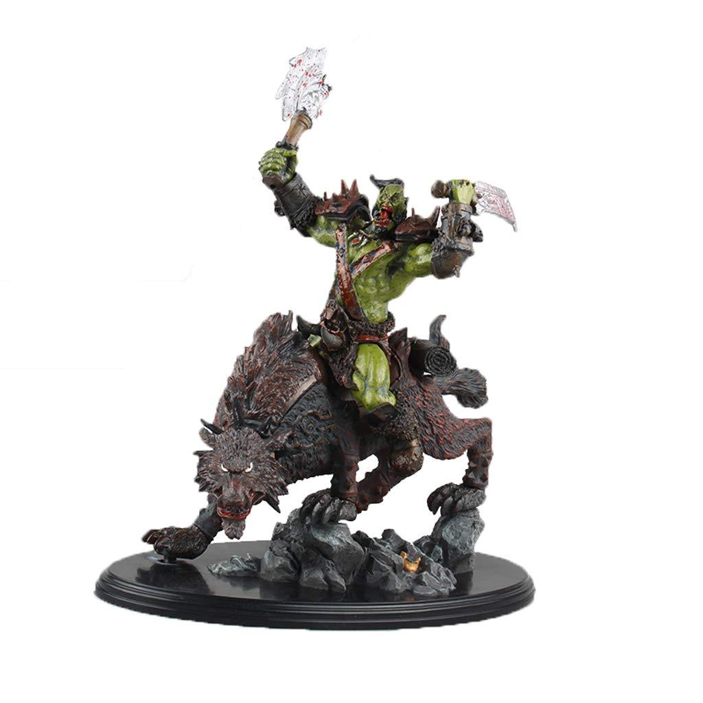 KLEDDP Spielzeug Modell Anime Charaktere World Of Warcraft Souvenirs Sammlerstücke Kunsthandwerk Geschenke Gold Wolf Riding 26cm Spielzeugstatue B07Q7FTB7W Figuren Luxus | Überlegen