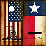 Speed Demon Hot Rod Shop Cornhole Board Wraps ~ Combo Texas Flag Come and Take It & Rustic American Dont Tread On Me DTOM Corn hole Boards Laminated Decal Wraps (Set of 2) CHB