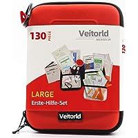Veitorld Erste-Hilfe-Set Erdbeben-Überlebenskit für Notfälle zu Hause, im Auto, Camping, Reisen, im Boot, Erste-Hilfe-Set für Schule, Büro, Fahrzeuge, Camping und Sport