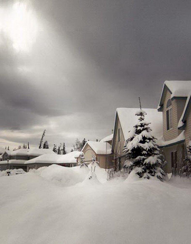 ホワイト雪家写真Backdrops写真小道具Studio背景5 x 7ft   B01GH4OA80