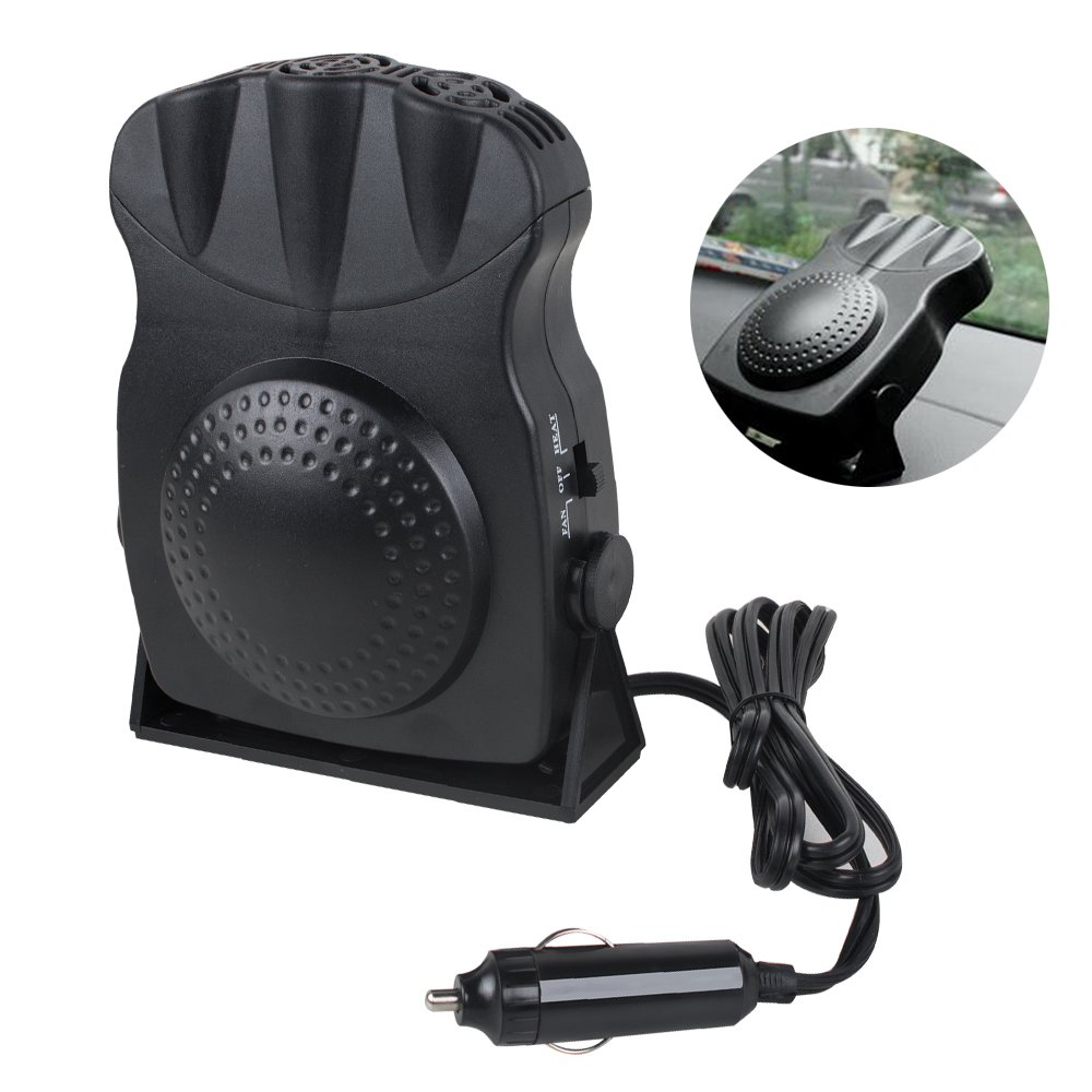 ixaer Car Fan Heater, 12V car heater defroster snow defroster car heating heater 3 Outlet
