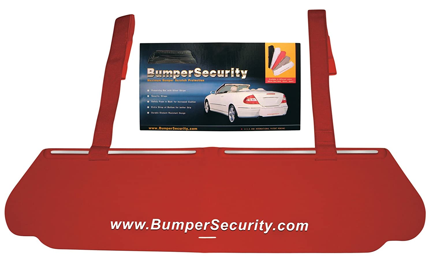 Bumper Security, Rear Bumper Scratch Protection Guard, RED