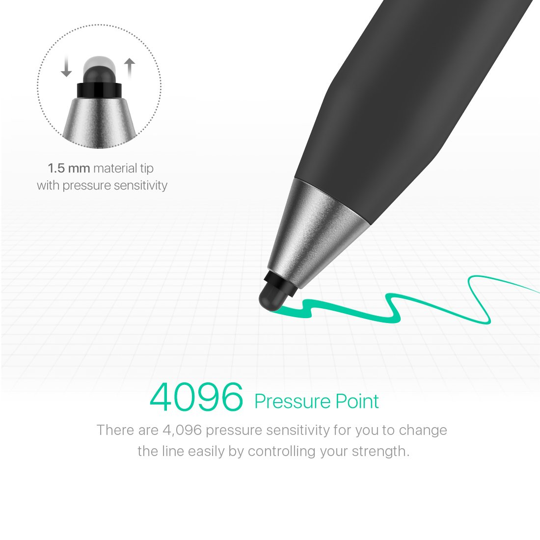 Microsoft Certified Surface Pen,Stylus Pens with 4096 Pressure Sensitivity,Supporting 500-Hour Playing Time 180-Day Stand-by,Built-in Battery Active Styli Touchscreen Pen for Surface Series (black-02) by Heiyo (Image #2)