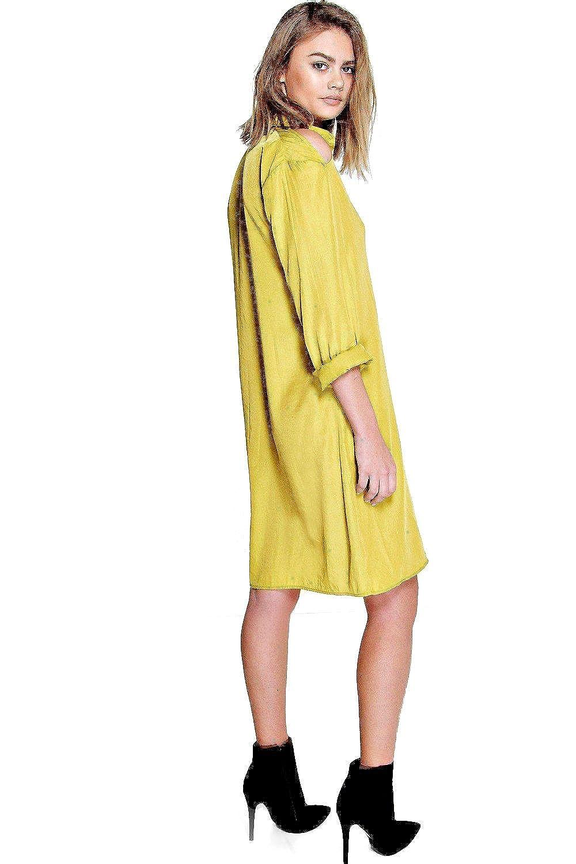Shoppen Sie Kastanie Saraza Hemdkleid Mit Cutout - 8 auf Amazon.de:Kleider