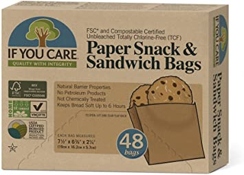 Amazon.com: If You Care 100% papel sin blanquear Snack & ...