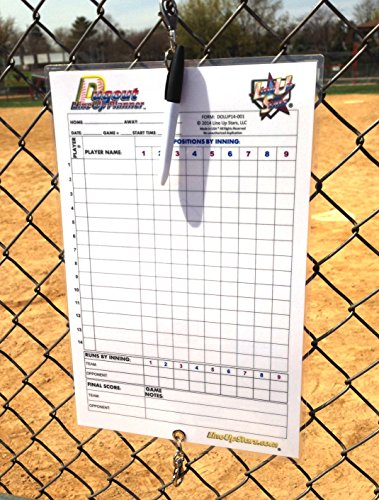 Dugout Line Up Planning Chart 11