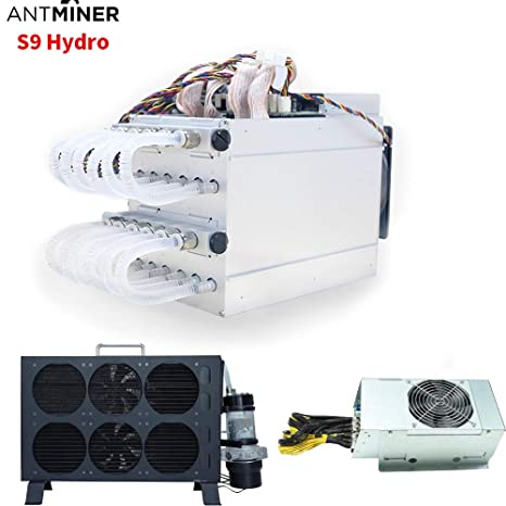 Bitmain New Water Cooling Miner AntMiner S9 Hydro 18T Asic Miner Bitcoin  BTC Mining Machine Include APW5 PSU