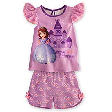 Disney Junior Princess Sofia The First Pajama PJ Two Piece Nightshirt [ 7 , 8 ]