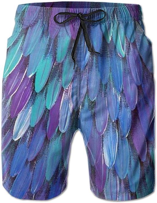 Wexzss Music Funny Summer Quick-Drying Swim Trunks Beach Shorts Cargo Shorts
