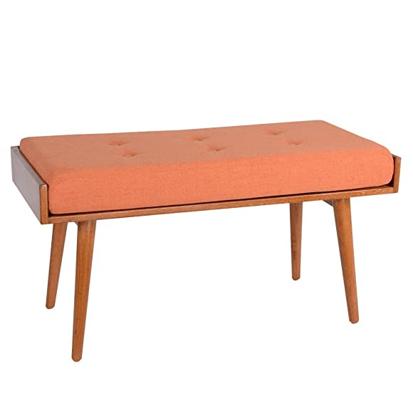 Porthos Home Robin Accent Bench, Orange
