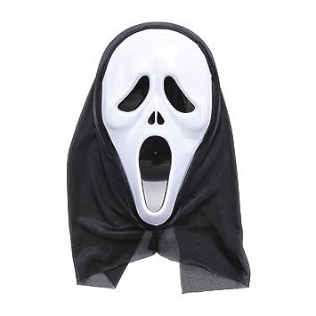 Goolsky Traje de Halloween Scary máscara de esqueleto fantasma ropa Festival de la decoración del partido