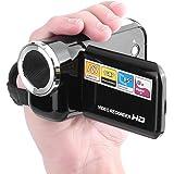 CHIGANT Cámara de Video Digital Mini Videocámara 4X Zoom Pantalla 2.0 LCD Rotativa Portátil Cámaras Digitales