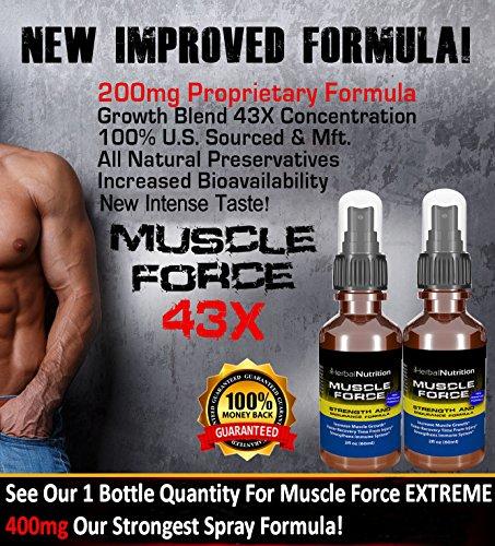 #1 évalué l'effectif de la FORCE musculaire et Endurance Spray! | Deux bouteille Pack! | 200mg croissance exclusive Formula| Améliorer la force et Recovery|2 oz Spray Bottle|30 jours d'alimentation