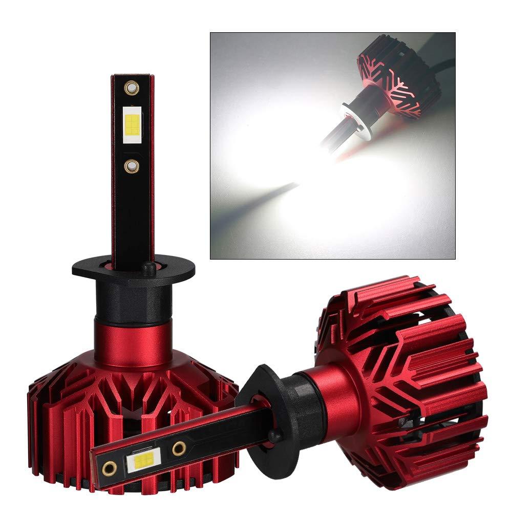 NOVSIGHT H4 9003//HB2 LED Ampoules Phare 60W 10000LM Kit de Conversion Ampoules pour Voiture 6000K Blanc IP68 Etanche Garantie 2 Ans