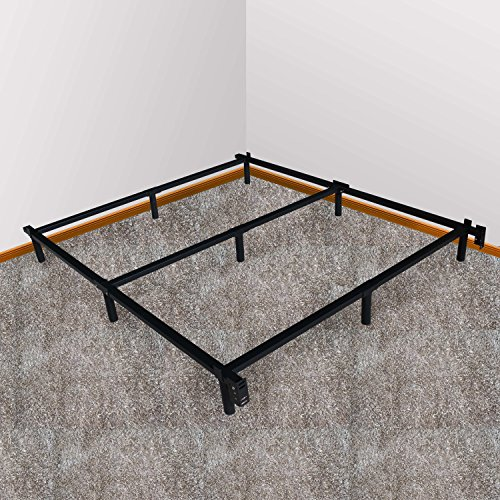 swascana stt heavy duty easy assemble steel bed frame box spring and mattress foundation full. Black Bedroom Furniture Sets. Home Design Ideas