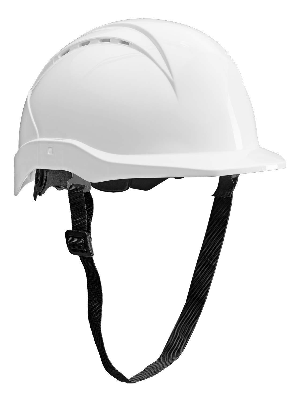 ACE Patera Casco Obra - Casco Seguridad - Casco de trabajo con cierre de rosca, ventilado y ajustable - Blanco
