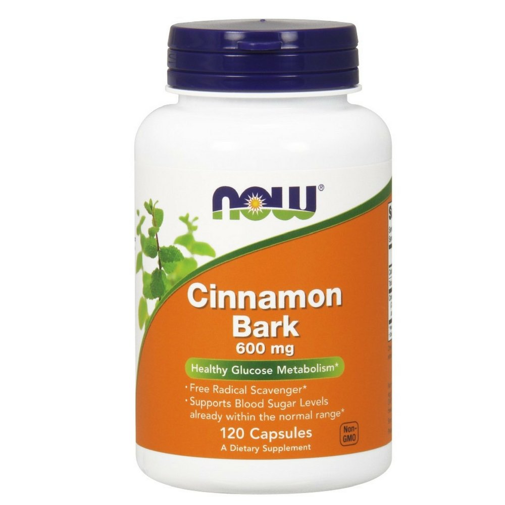 NOW Cinnamon Bark 600 Capsules Image 3