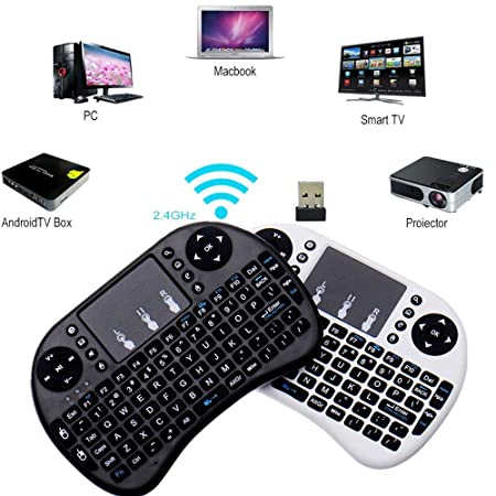 Amazon.com: Mini Wireless Keyboard 2.4G with Touchpad for PC Android TV Raspberry Pi Kodi Media Box XBox360 Playstation 3,4 (PS3 PS4): Computers & ...