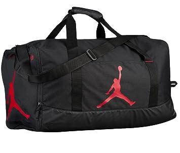 Nike Air Jordan Jumpman Trainer Duffel GYM Bag Black Gym Red