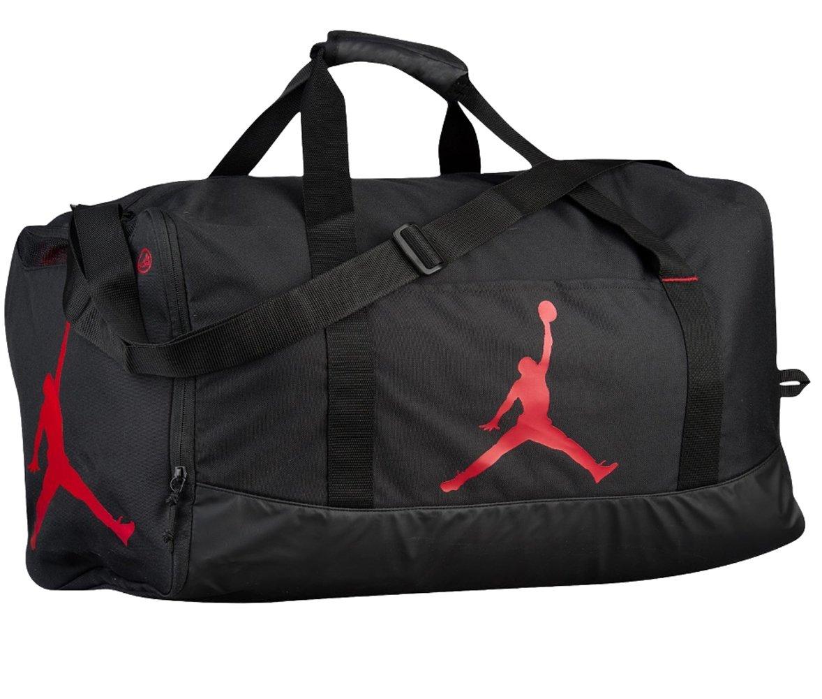 3849568cabee15 Galleon - Nike Air Jordan Jumpman Trainer Duffel GYM Bag (Black Gym Red)