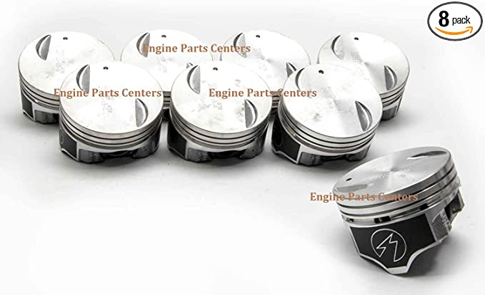 .060 Chevy 7.4//454 Speed Pro Hypereutectic 22cc Dome Pistons+CAST Rings Set//Kit