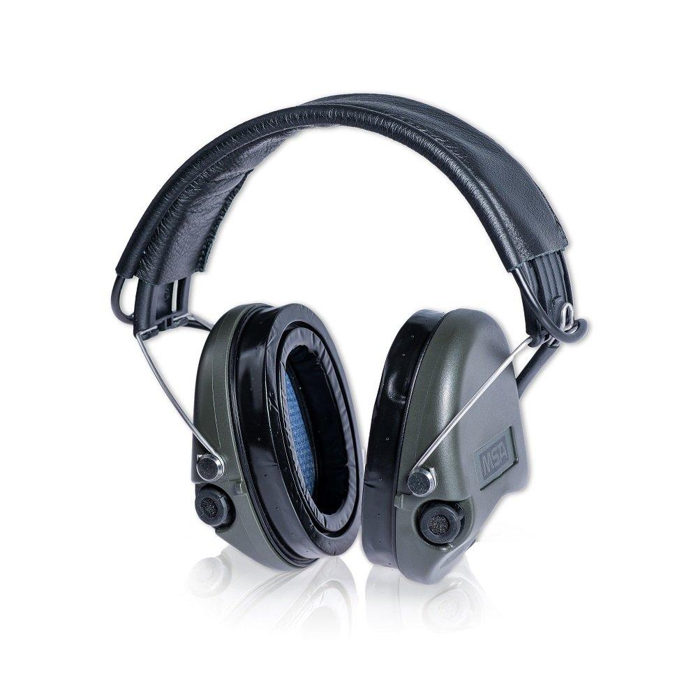 MSA Sordin Supreme Pro X schwarzes Stoffband und schwarze Cups Gelkissen AUX