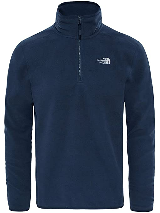 e118e315ae94 North Face Men s 100 Glacier 1 4 Zip EU Polar Sweatshirt  Amazon.co ...