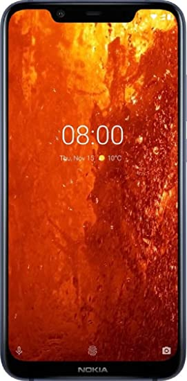 6420463f22ecb Nokia 8.1 (Blue) Without Offer  Amazon.in  Electronics
