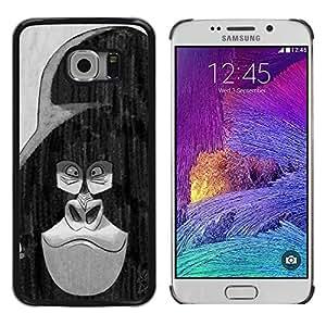 Exotic-Star ( Black White Cartoon Character ) Fundas Cover Cubre Hard Case Cover para Samsung Galaxy S6 EDGE / SM-G925 / SM-G925A / SM-G925T / SM-G925F / SM-G925I