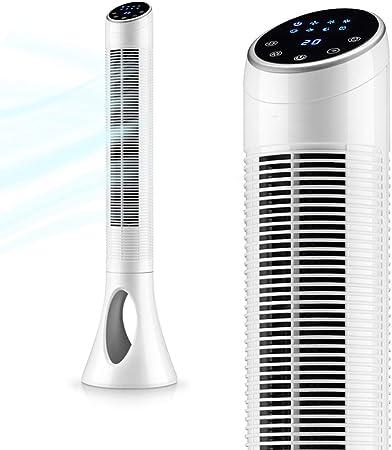 Opinión sobre FHDF Silencioso Ventilador De Torre con Mando a Distancia Portátil Oscilante Tower Fan3 Velocidades 3 Viento para El Hogar Y La Oficina Temporizadorr (Blanco, 101 CM)