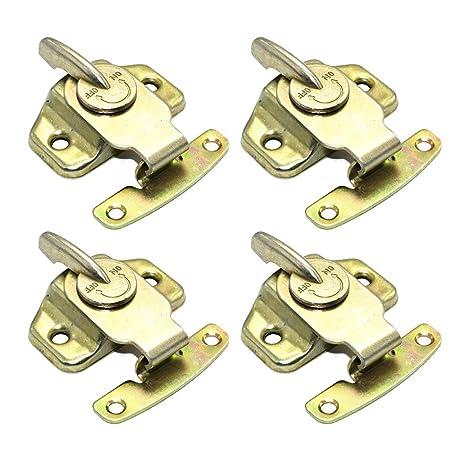 DoiToolol4 piezas de oro para muebles de escritorio, cerradura de ...
