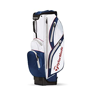 7a4548bc71b6 TaylorMade Catalina Waterproof Cart Bag 2015 White Blue Red  Amazon ...
