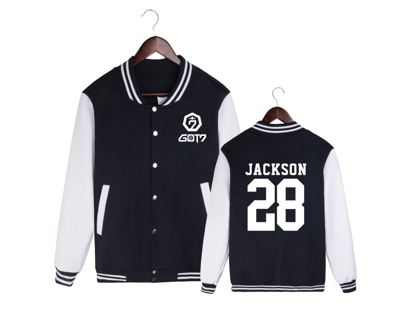 ALLDECOR GOT7 Fanmade Baseball Jacket Uniform Kpop Unisex Cotton Coat Sweater