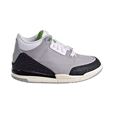 2e674991c99 Image Unavailable. Image not available for. Color  Jordan 3 Retro Little  Kid s Shoes Light Smoke Grey Chlorophyll Black ...