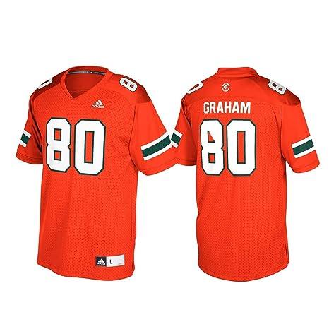 buy online 9f11d 60419 Amazon.com : adidas Jimmy Graham Miami Hurricanes NCAA Men's ...