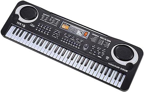 61 Teclas Música Electrónica Teclado Órgano Eléctrico Con ...