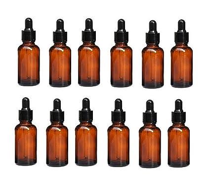 12pcs 20 ml 0.67oz vacío rellenable Ambe esencial botella de aceite vial recipiente de vidrio
