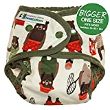 Bigger Best Bottom Cotton Diaper - Snap - Brawny Bears - Made In The USA