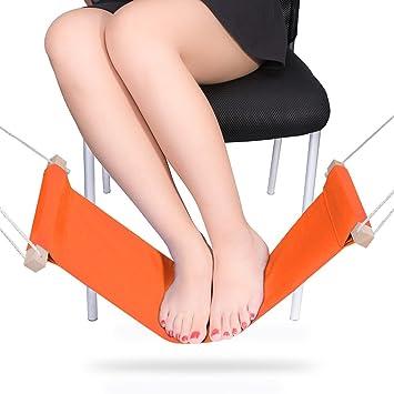 delxo office foot hammock stands adjustable desk feet hammock the foot rest stands orange amazoncom stills office