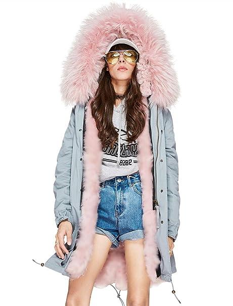 Amazon.com: Melody abrigo largo, chaqueta con capucha con ...