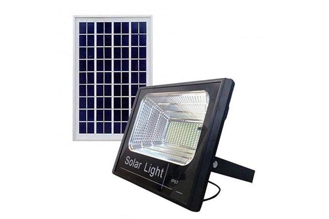 Faro led smd 200 w pannello solare energia crepuscolare telecomando