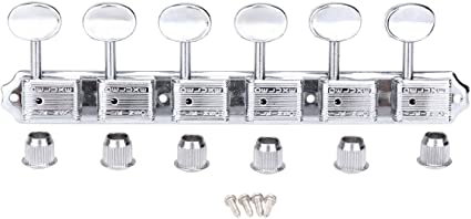 Squier Chrome Tuner Tuning Key Peg Head In Line Right Single