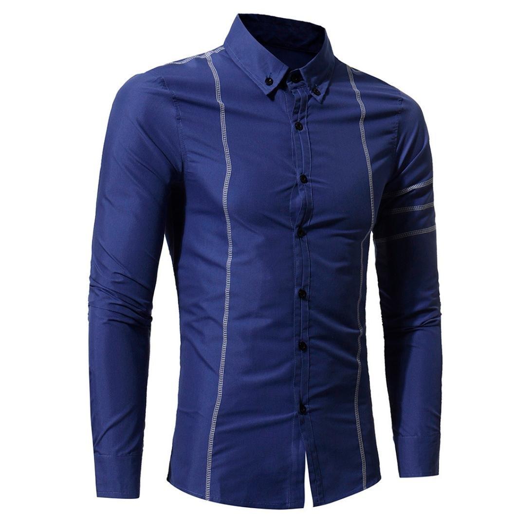 Ximandi New Men Shirt Long Sleeve Regular Slim Fit Male Striped Solid Dress Shirts