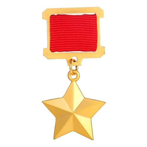 amazon com gudeke soviet ussr cccp gold star medal badge copy jewelry