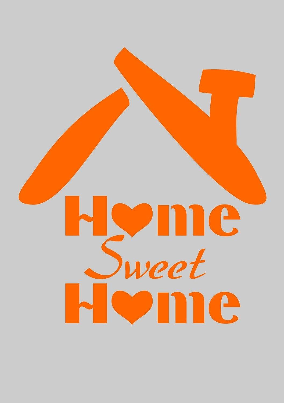 Home Schablone f/ür Heimwerker Projekte Sweet Home Design A5/148/x 210/mm