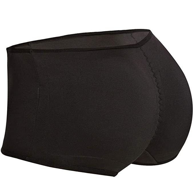 dc41f6d8a Seamless Padded Butt Lifter Panties Hip Enhancer with Removable Pads Womens  Boy Shorts Black