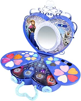 Ritapreaty 39Pcs Set cosmético Frozen Princess Series Juego de Maquillaje Maquillaje Juguetes Decorativos Seguros No tóxicos Chica Práctica Maquillaje: Amazon.es: Hogar