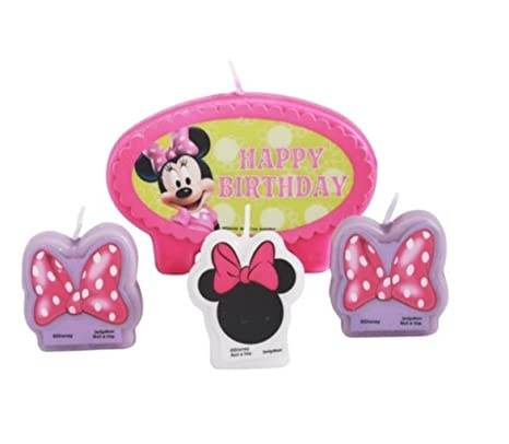 Amazon.com: Disney Minnie Mouse torta de cumpleaños vela set ...