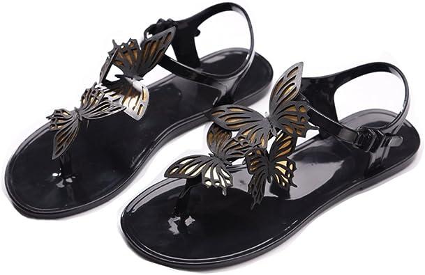 GIY Women's Flip Flop Jelly Sandals