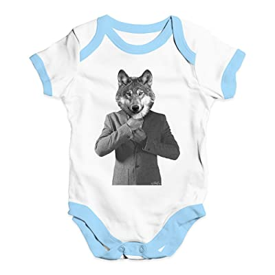 TWISTED ENVY Mr Wolf Baby Unisex Funny Baby Grow Bodysuit